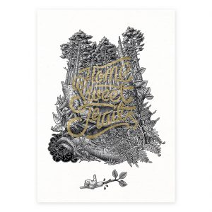 Home sweet trail. Art print. Mtb art. Illustration.
