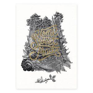Home sweet trail. Art print. Mtb art. Illustration.